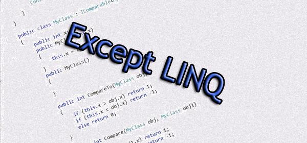 Except LINQ
