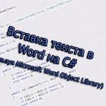 Вставка текста в Word на C# (1 способ)